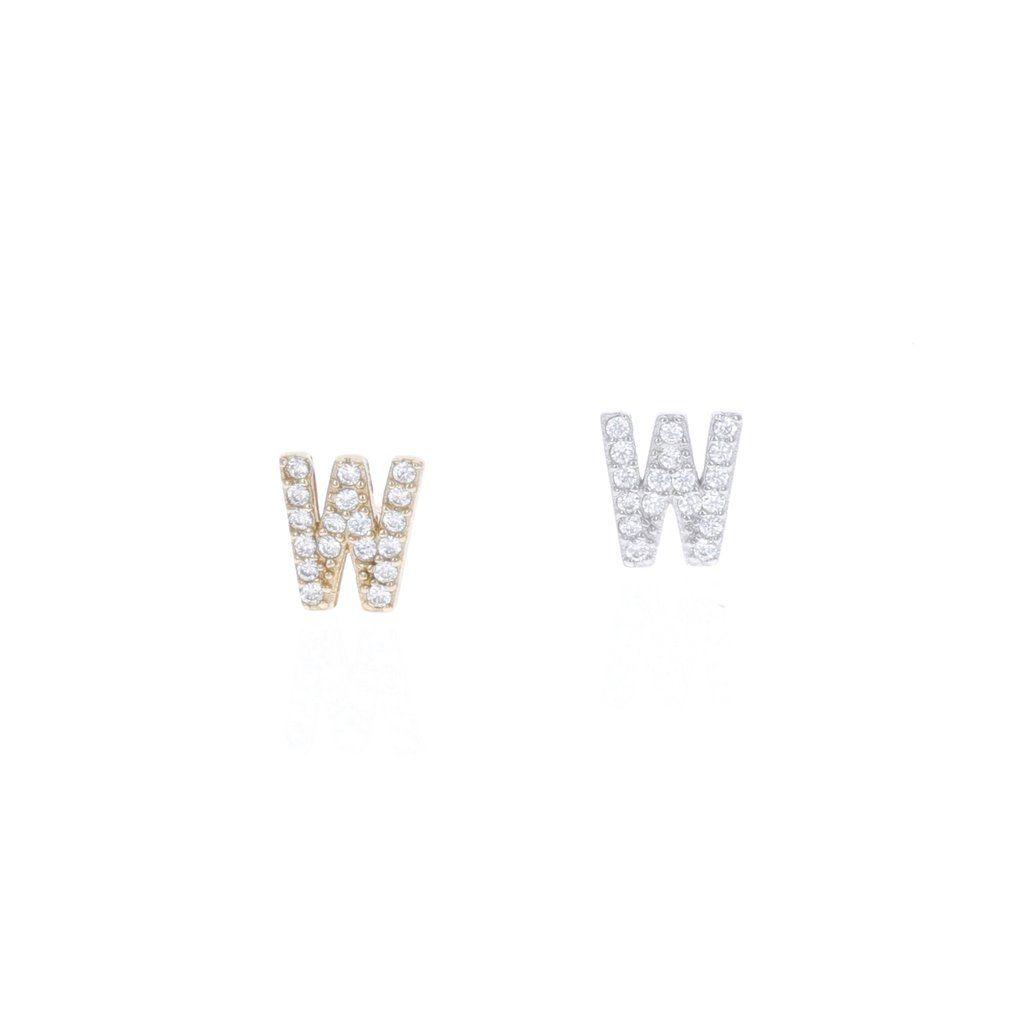 56dd3ce6e Letter W Cubic Zirconia Initial Stud Earrings – Alexandra Marks (Love It.  Want It. Need It) #shopamarks #letterstuds #letterearrings  #alexandramarksjewelry ...