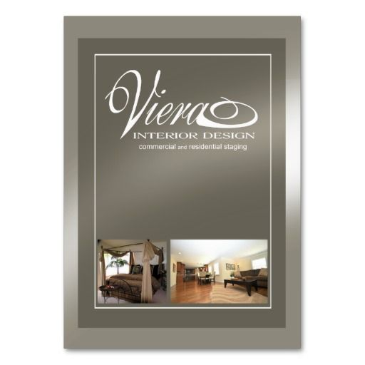 Viera Home Staging Interior Design (pewter) Business Card ...