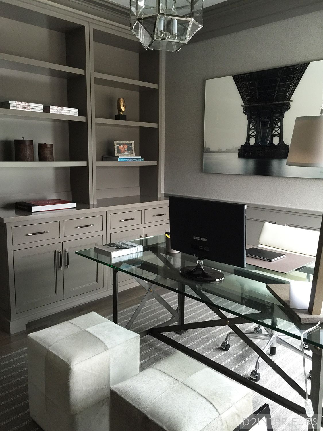 office space colors. A Desk Made Of Glass And Metal Is Functional Stylish In This Home Office Without Feeling Bulky Or Visually Crowding The Room. Space Colors