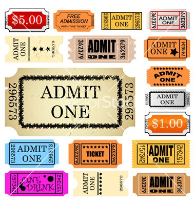 Admit One Ticket Printable Tickets Pinterest Adobe   Admit One Ticket  Template Free  Blank Admit One Ticket Template