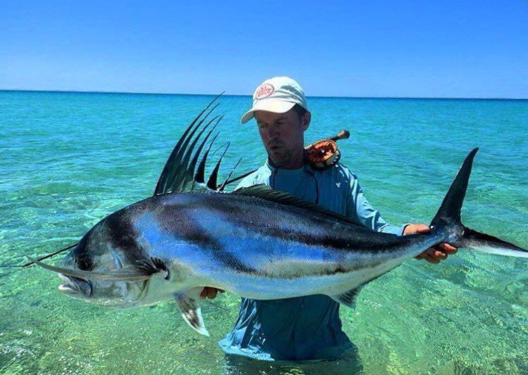 Jeffcurrier65 with one of our bucket list fish for Rooster fish pictures