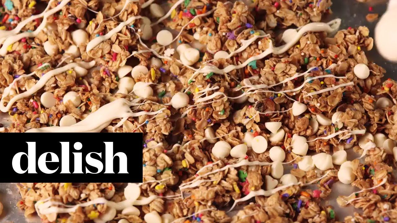 Birthday cake granola delish delish videos delish