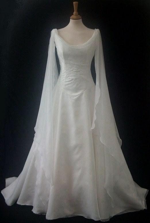 White Medevil Wedding Dress White Elven Dress Graphics Code