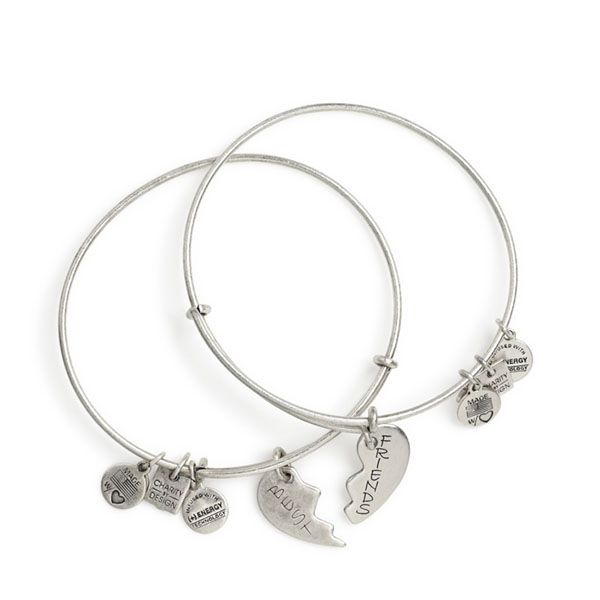 Best Friend Bracelets Set Of 2 Charm Bangles Alex Anialex
