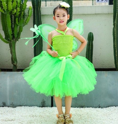 suit butterfly wingmagic stick knee length carton skirtflower girl dress tutu dresswedding promChristmas costume children cosplayPT314  fairy suit butterfly wingmagic sti...