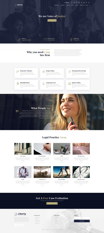 Liberty Legal Firm Law Firm Website Lawyer Website Design