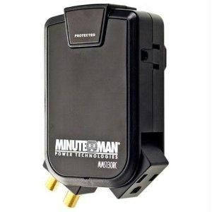 Minuteman Ups Wall Tap 3 Side Mounted Outlets 180 Joules Coax Wall Taps Wall Mounted Tv Surge Protectors
