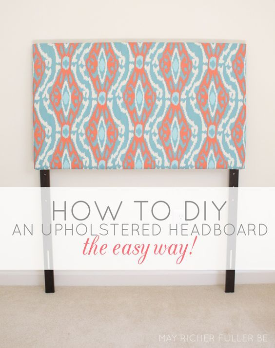 Diy Upholstered Twin Headboards The Easy Way May Richer Fuller Be
