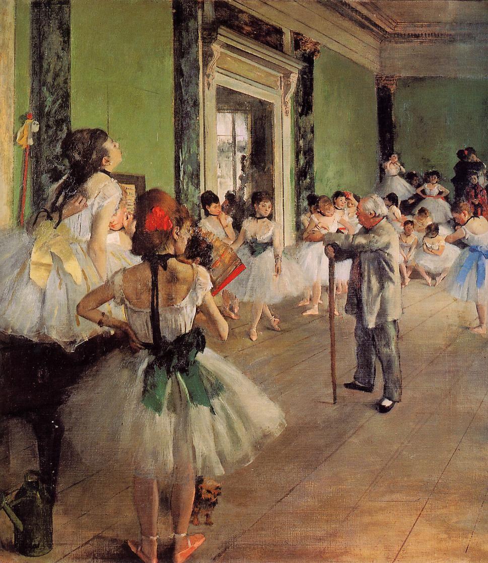 Edgar Degas  Lição de Dança, 1873-1876.  Óleo sobre tela, 85 x 75 cm, Museu d'Orsay, Paris