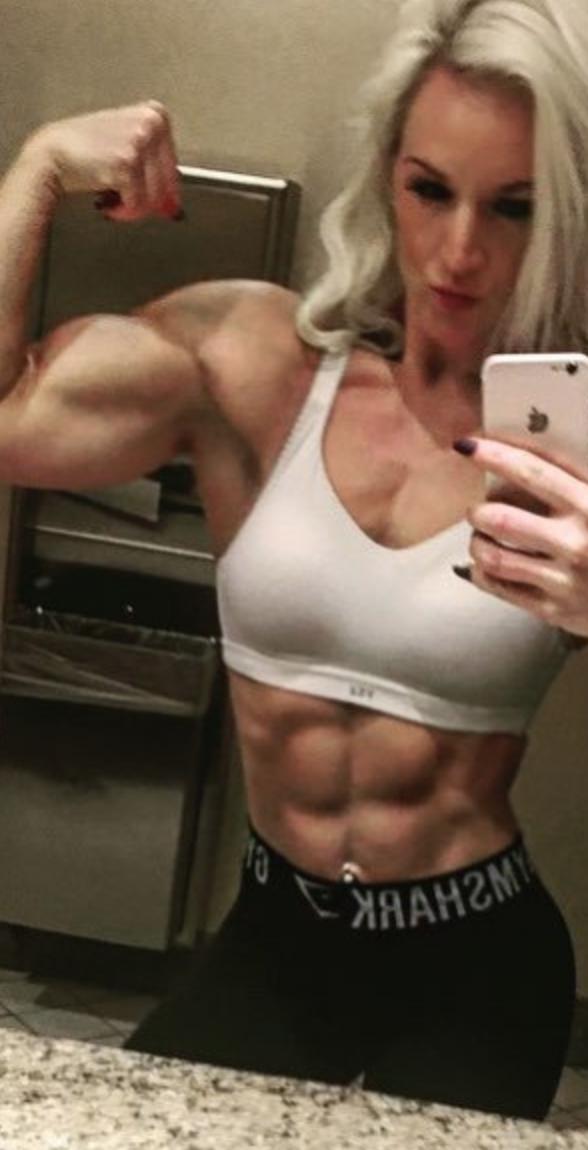 Mädchen Webcam Flex Muskel Muscle God