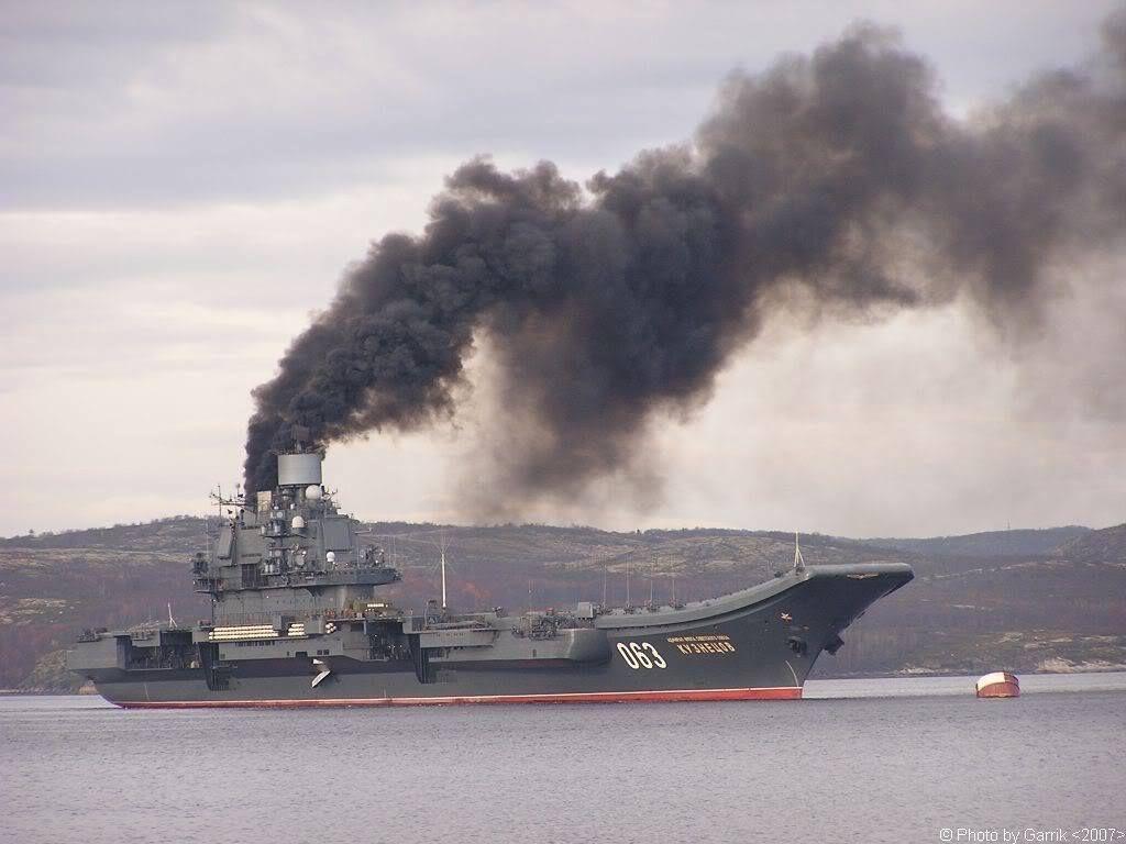 """Russian aircraft carrier """"Admiral Kuznetsov 063"""""""