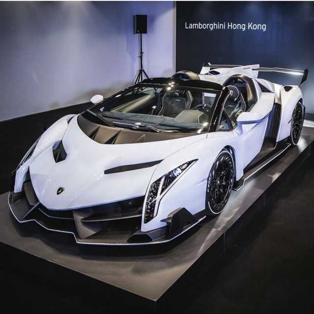 I've never seen a Lamborghini Veneno in white, I think...I think I'm in love
