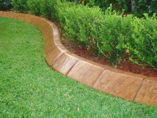 Modern Garden Edging Ideas Concrete Garden Edging Landscape Design - Design continuous free form concrete landscape edging by kwik kerb
