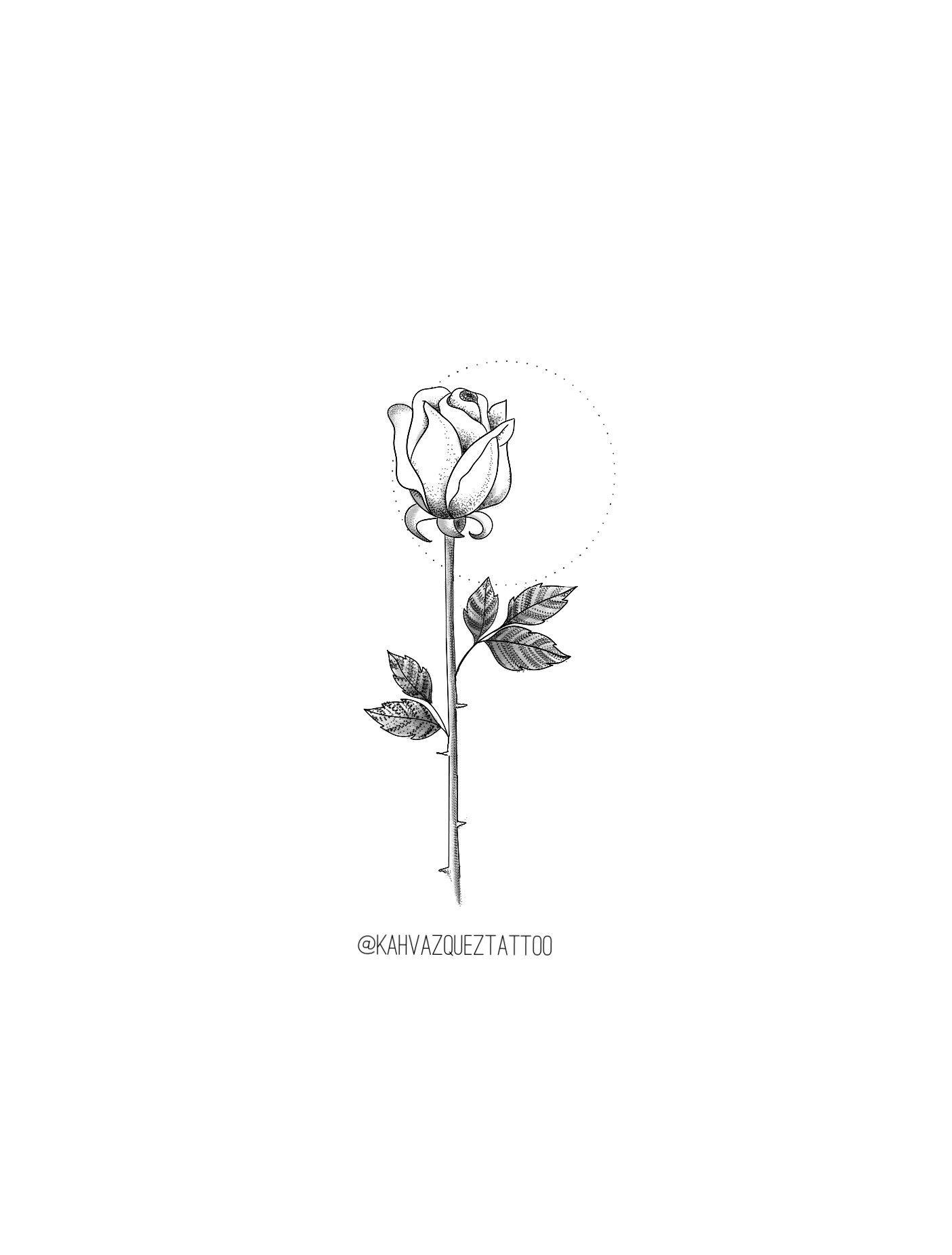 Rosa Flor Disponiveis Para Tatuar Por Kahvazqueztattoo Fineline