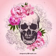 Resultado De Imagem Para Calavera Con Flores Dibujo Calaberas