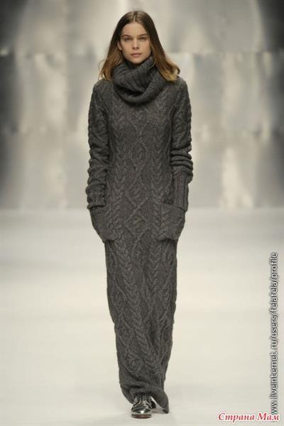 Вязаное платье с подиума