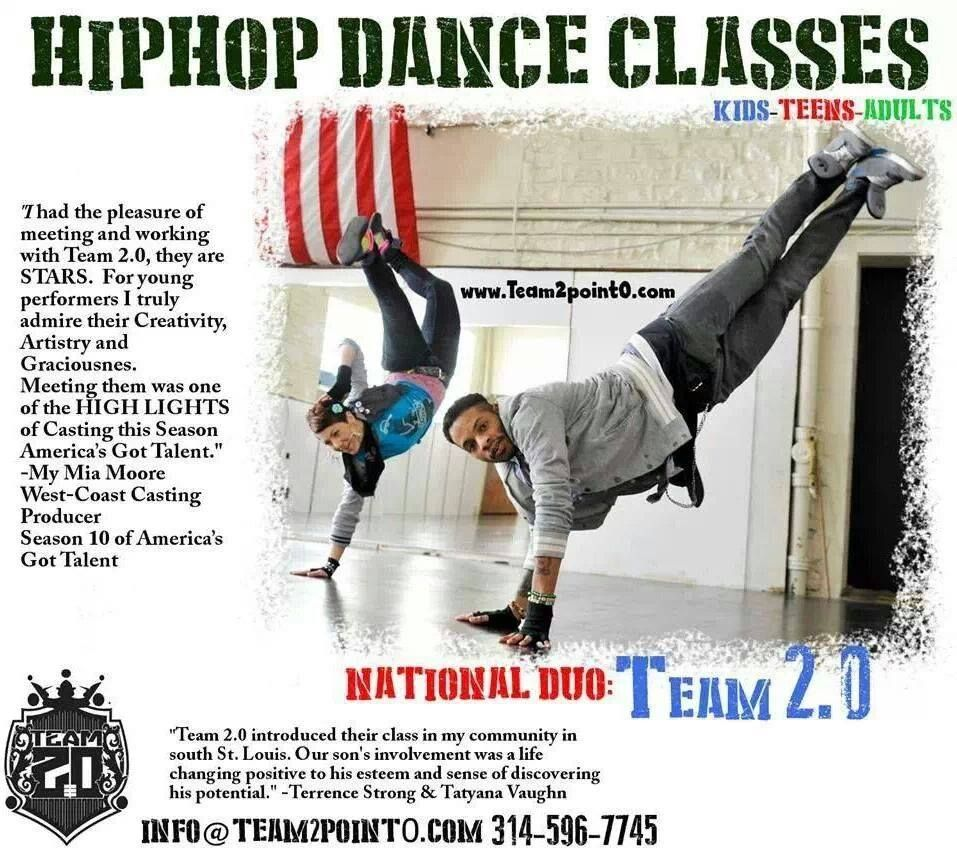Come learn how to freestyle hiphop dance with 20 hip