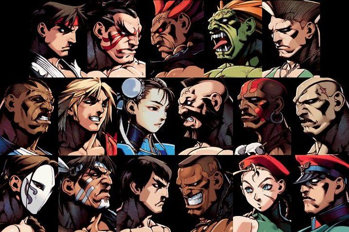 Street Fighter 2 Roster Street Fighter Characters Street