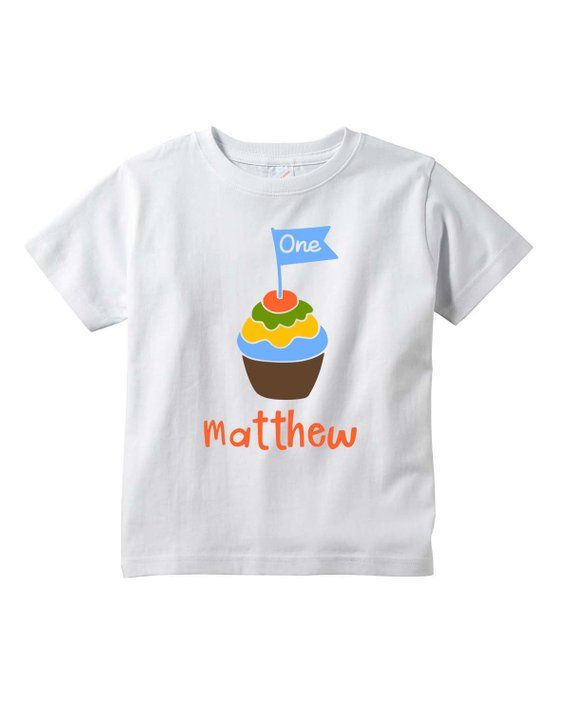 Personalized First Birthday Shirt 1st Baby Boy Clothes Boys Shir