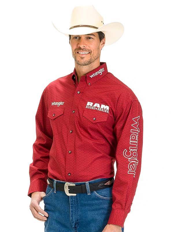 1260fd8d Wrangler Red Ram® Logo Rodeo Series Western Shirt - Pro Rodeo, 8 seconds,  #rodeolife
