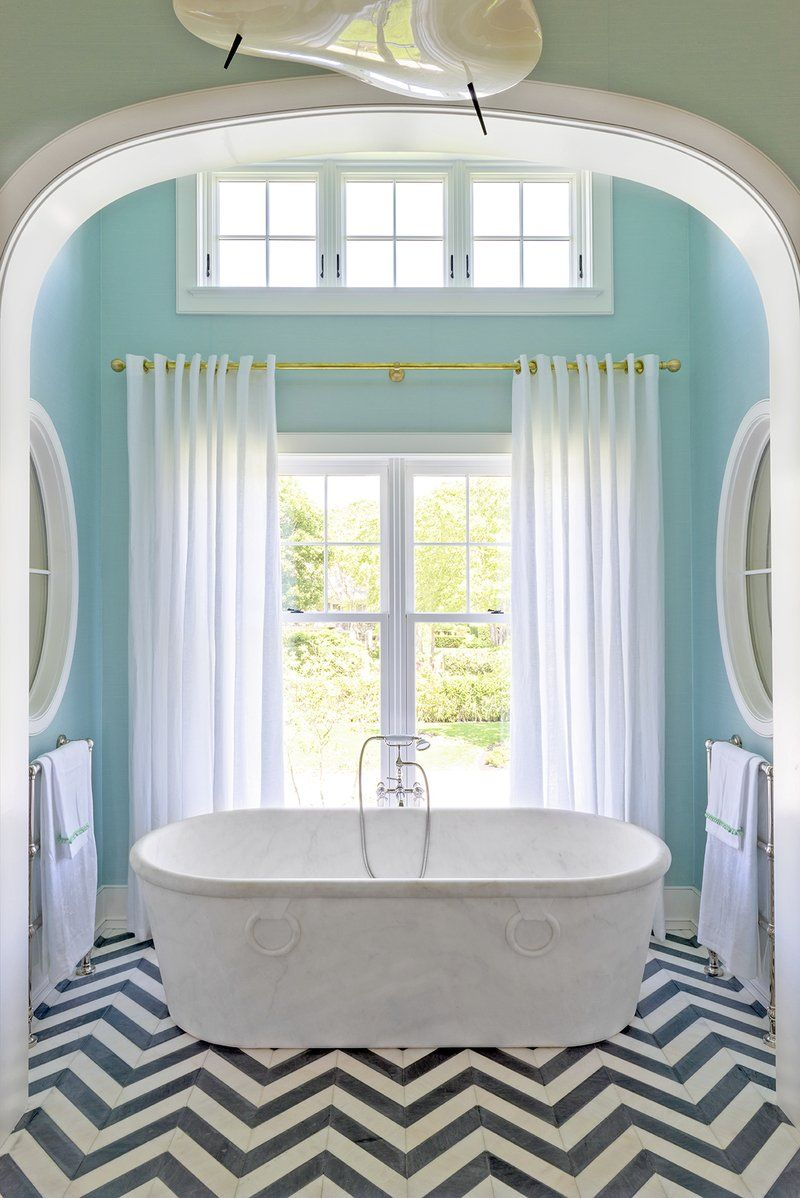 Coastal Bathroom In Southampton, NY By Achille Salvagni Atelier