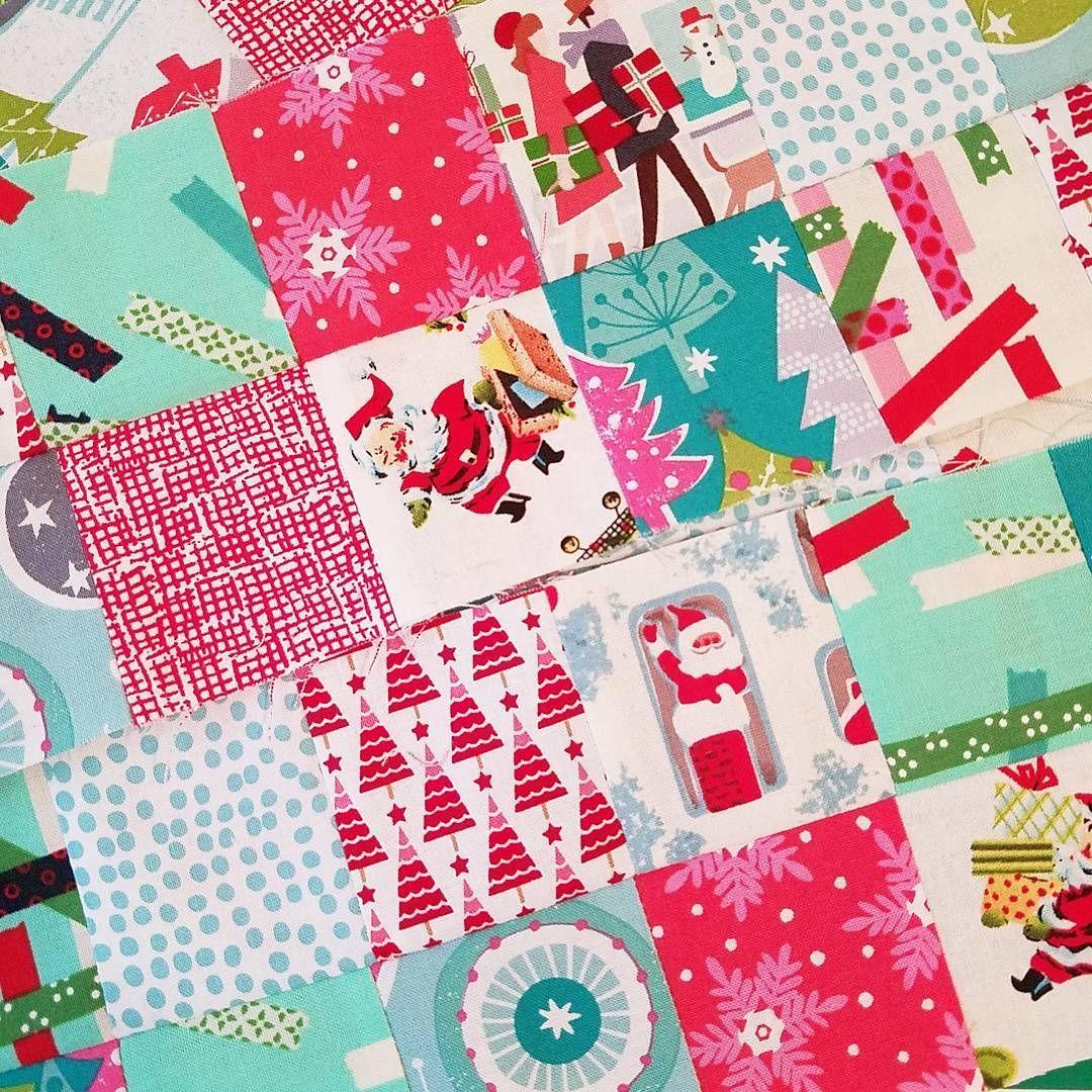 Christmas patchwork knitting bags for the shop in progress!  #ilovechristmas #ilovehandmade #etsyseller #etsy #knittersofinstagram  #makers #maker #knitter