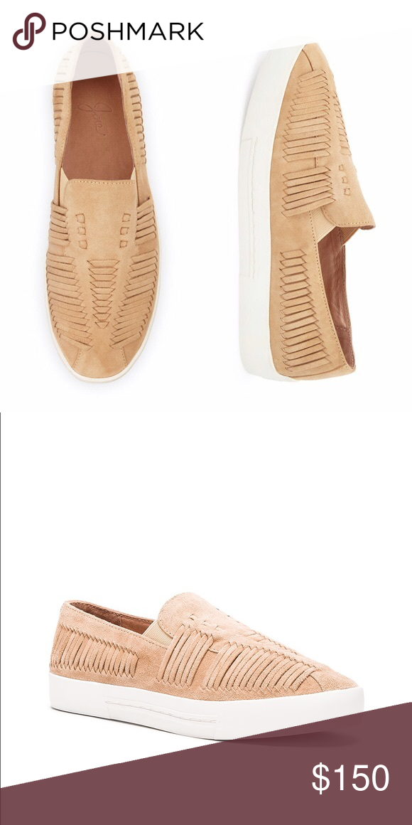 Joie | Huxley Sneaker Tan, suede slip-on sneaker. Lightly worn once but look brand new Joie Shoes Sneakers