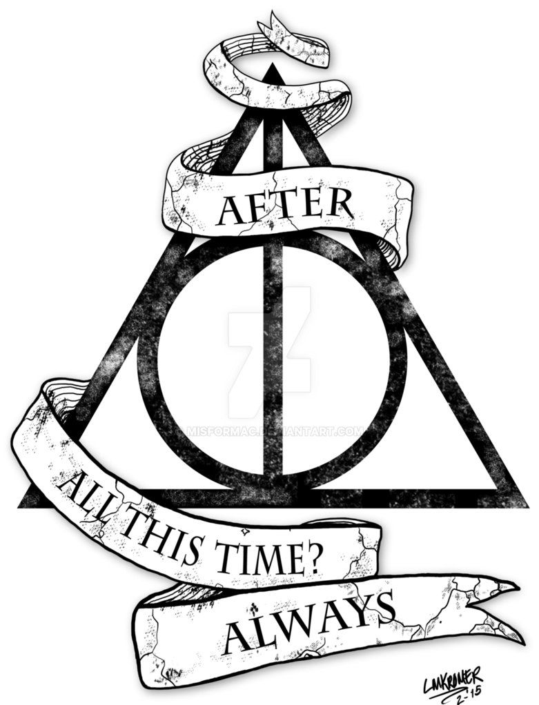 Harry Potter Deathly Hallows Tattoo Design by Misformac Harry