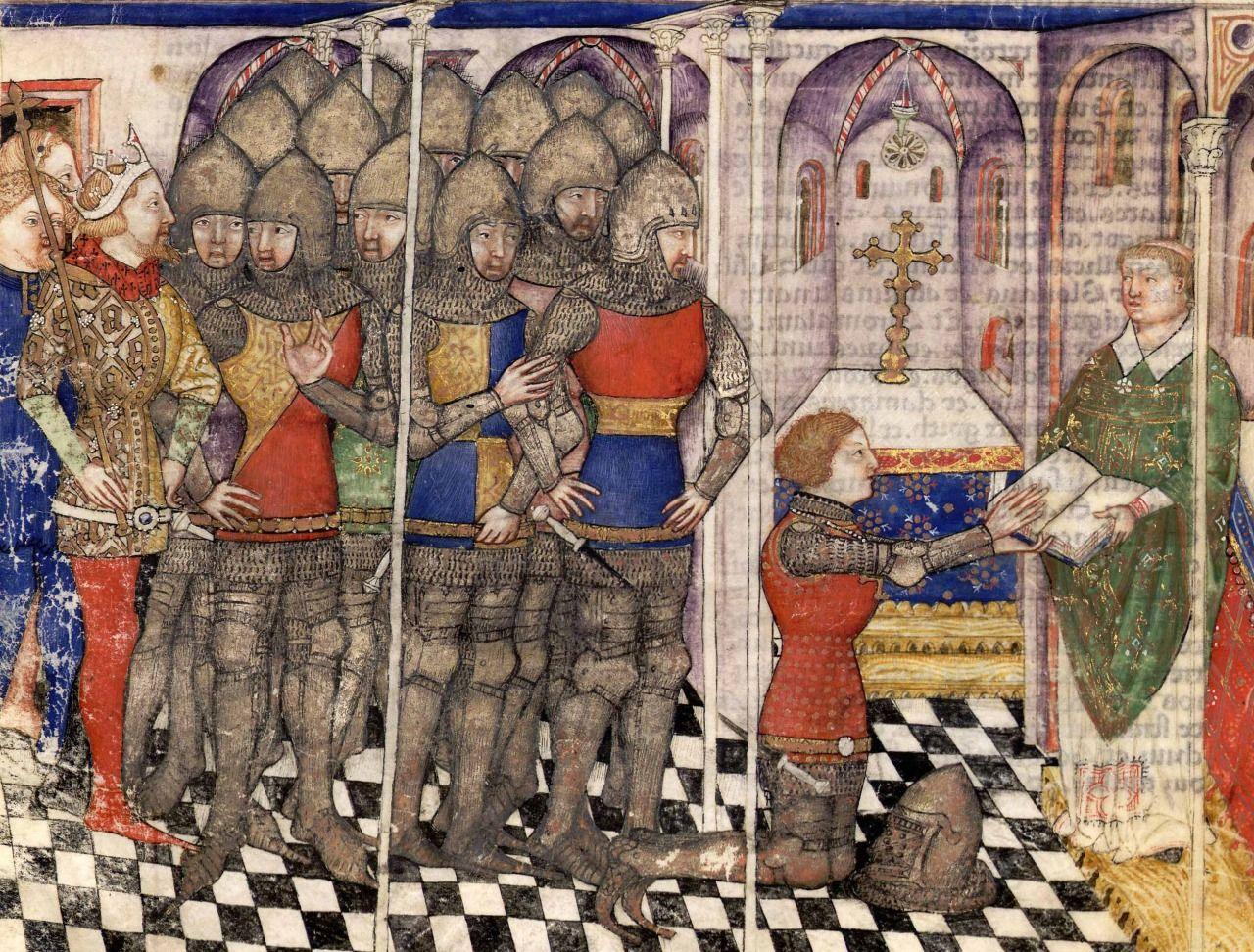 """000 1375 1400 Miniature tratte da """"Lancelot du Lac et la"""