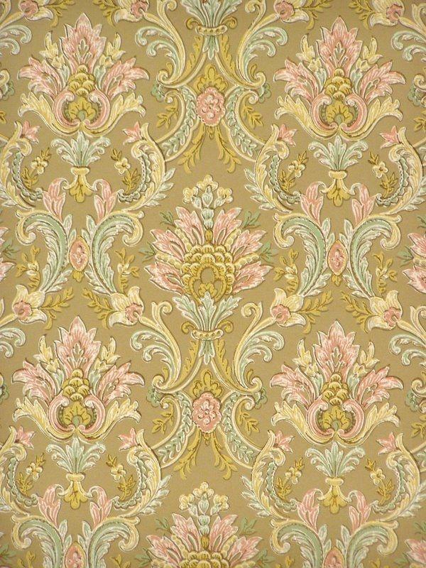 papel pintado barroco retro