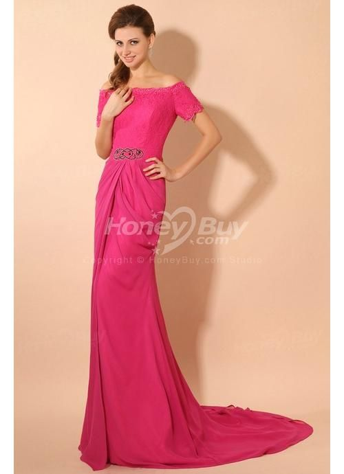fuschia bridesmaid dresses | ... Short Sleeves Embroidery Fuschia ...