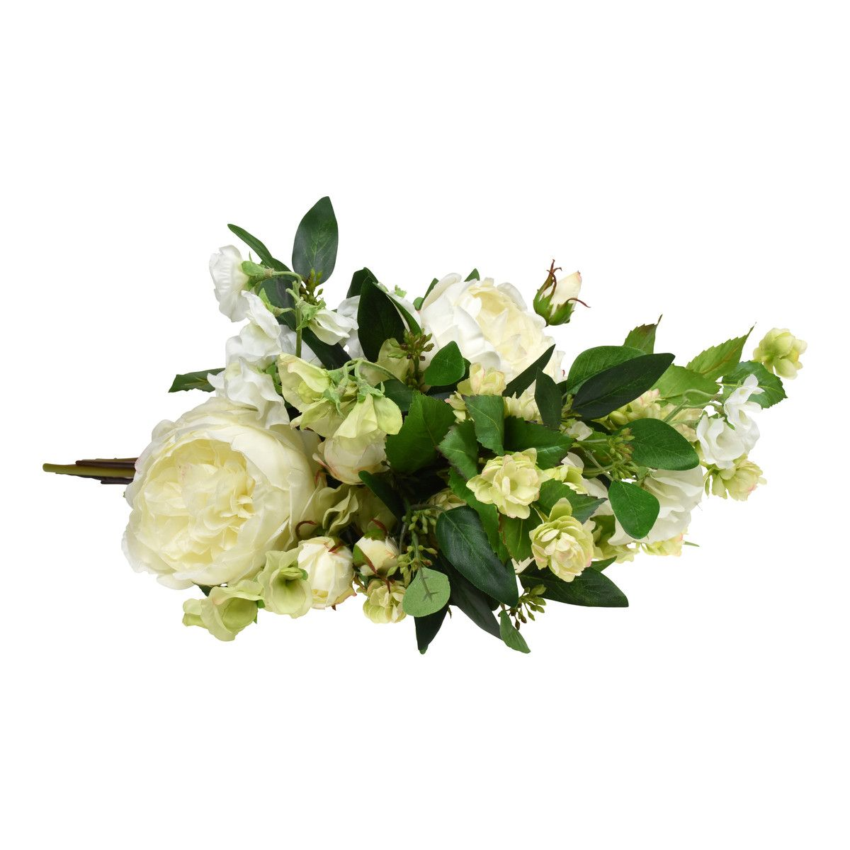 Hops Sweet Peas And Roses A Whimsical Bouquet Filled With White