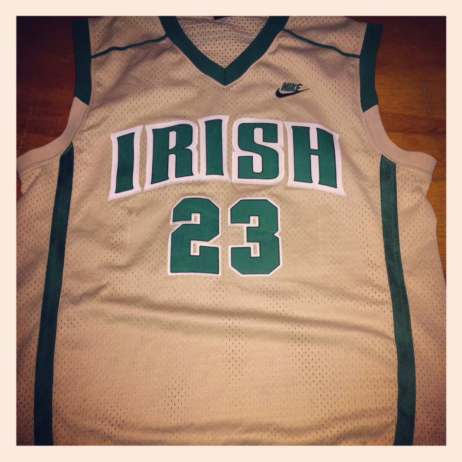 detailed look 9c9ce c5411 LeBron James St. Vincent - St. Mary Irish HS Nike Jersey ...