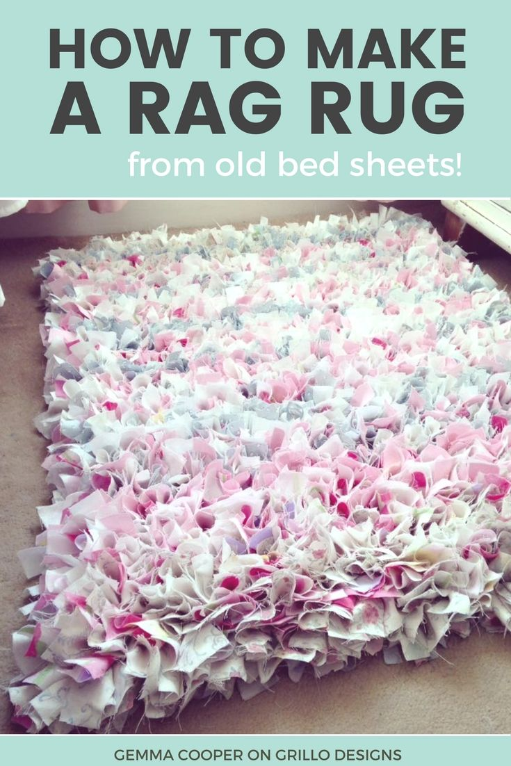How To Make A Diy Rag Rug Using Old Bedding Home