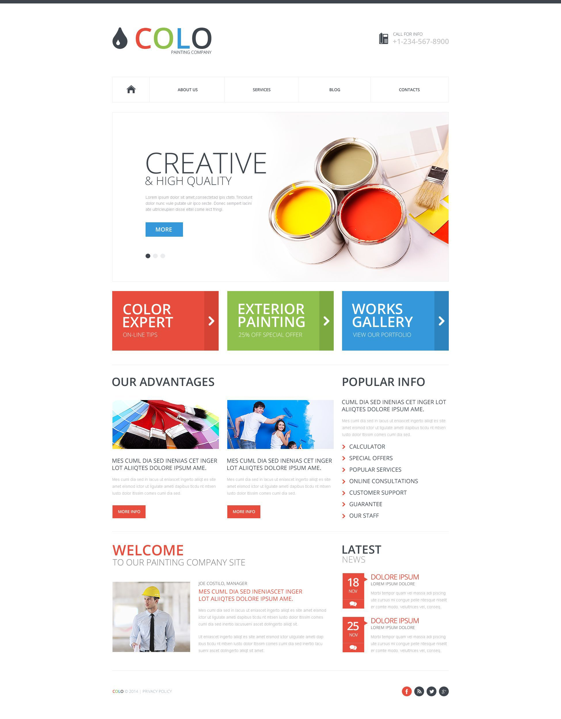 Propaint Multipage Html Template Website Template Web Template Design Corporate Website Templates