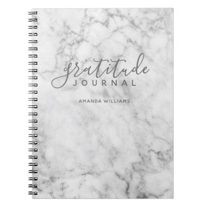 Marble Pattern Gratitude Journal - gray and white Marble pattern