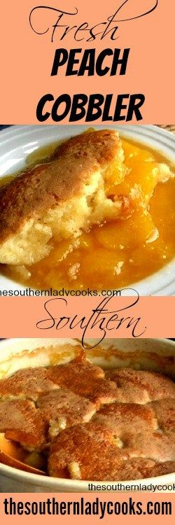 Southern Peach Cobbler #summersouthernfood