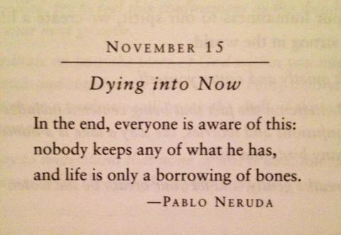 Al final, todos somos conscientes de esto: nadie se queda con lo que tiene, y la vida solo es un préstamo de huesos.