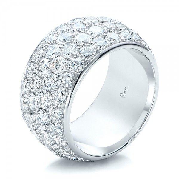 Superb Custom Pave Diamond Wedding Ring