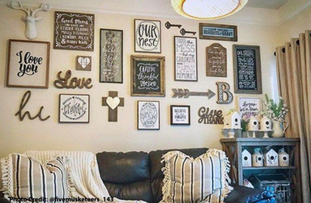 Lovely Unique Wall Decoration Ideas To Create A Funny House 11 Trendehouse Wall Decor Living Room Big Wall Decor Wall Decor Bedroom