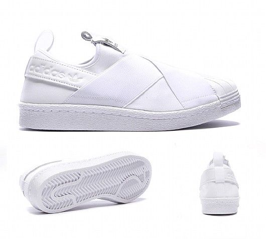 Adidas � Womens Superstar Slip On Trainer. White Slip On SneakersSlip ...