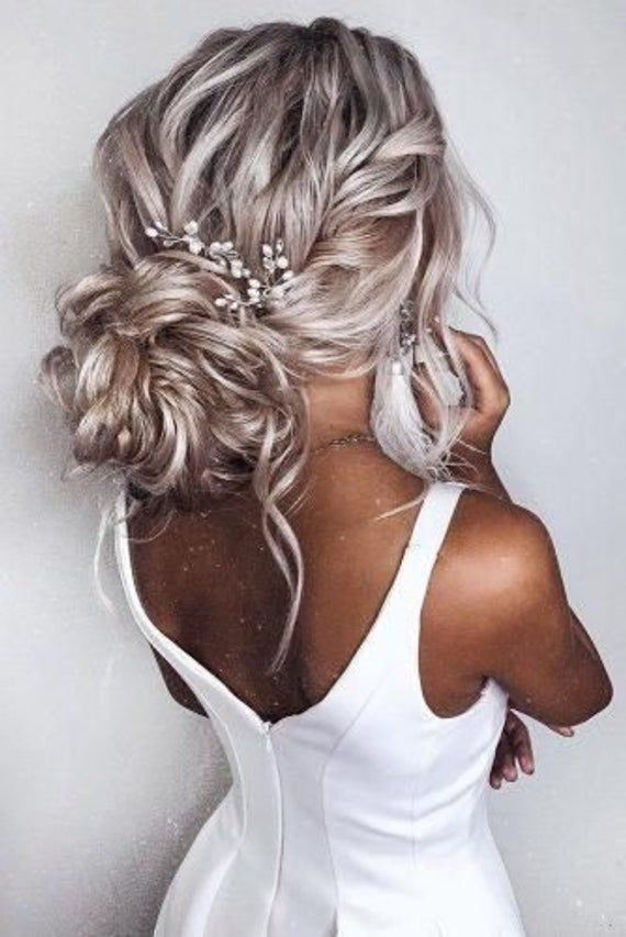 Bridal hair piece Wedding Hair Accessories Bridal hair comb Wedding hair piece Bridal headpiece Wedding hair pins Bridal hair pins #promhairstyles