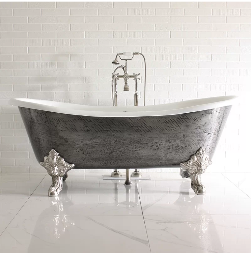 Pin By Perigold On Stunning Spa Room Clawfoot Tub Bathtub