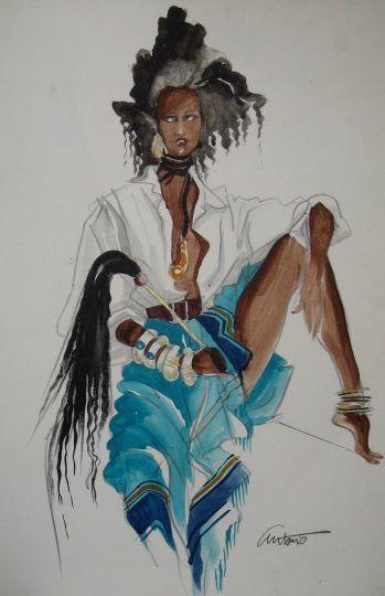 Iman By Antonio Lopez Ilustracion De Moda Dibujos Figurines De