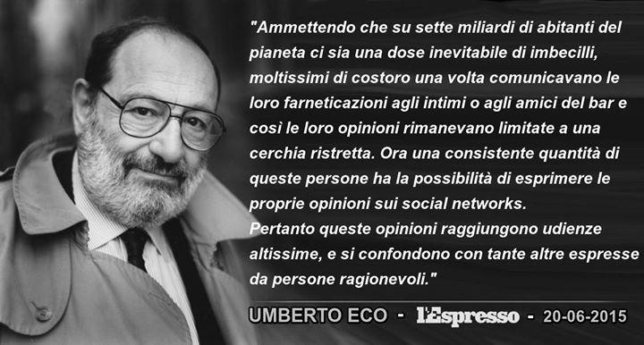 Umberto Eco Internet Citazioni Cose