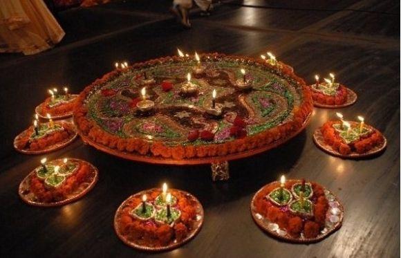 Mehndi Decoration Trays : Mehandi designs world mehndi stage decoration tray