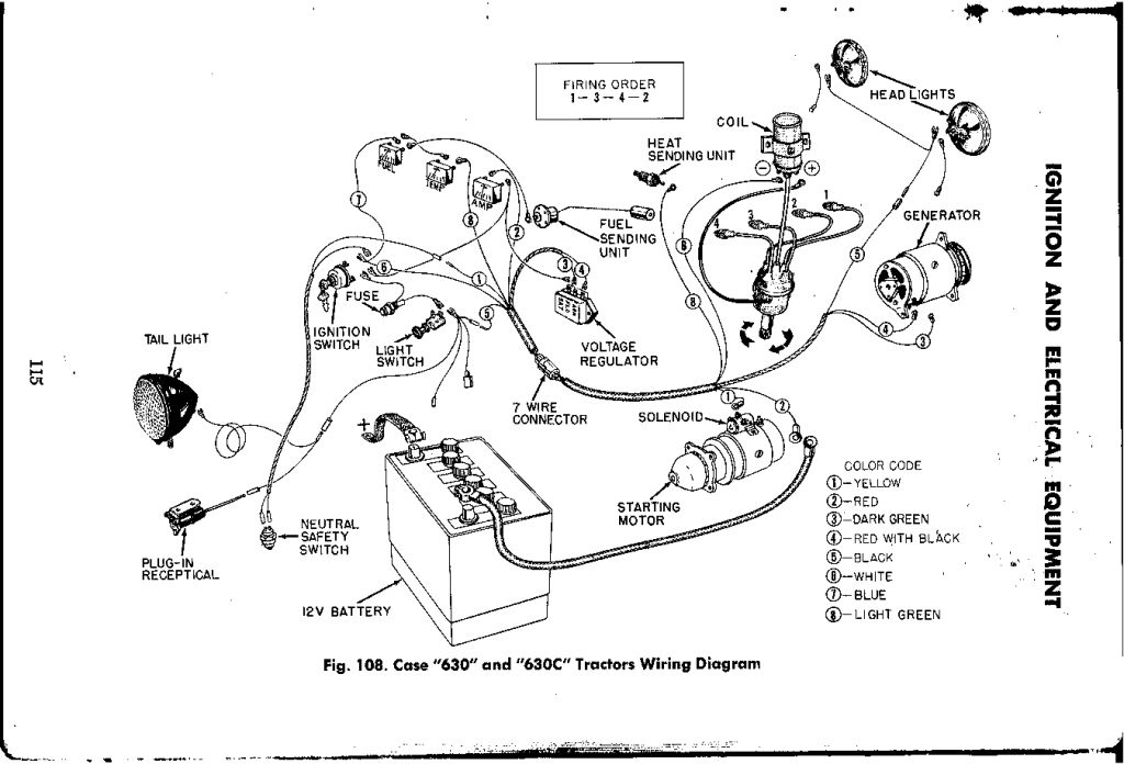 Case Tractor Wiring Diagram 4 Wire Submersible Well Pump 530 Yesterday S Tractors 203658 Dash Board