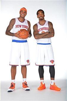 New York Knicks Media Day 2013 Carmelo Anthony and JR