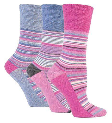 6 Pairs Girls Designer Elle Lilac Check Ankle Socks All Sizes YE02