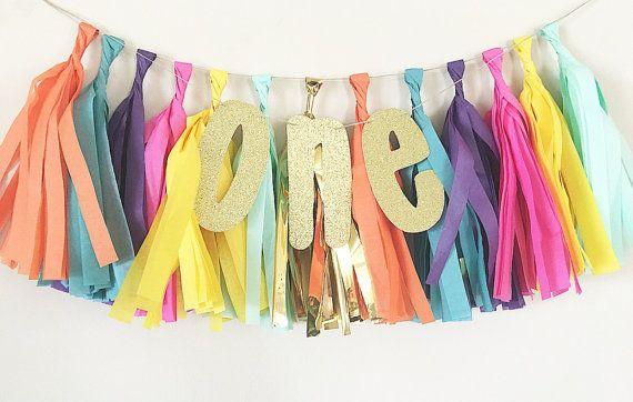 Tassel High Chair Banner Fiesta Party Decor by OhhHowCharming